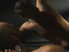Anal fisting tutorial gay Scott, in bondage between two pillars, whinges