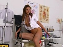 Natural tits nurse gaping and cumshot