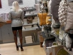 Stockings Shopping Exhibitionism