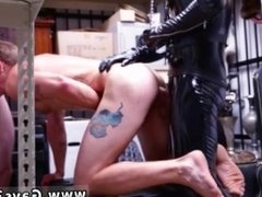 Straight buddies jerking off gay Dungeon sir with a gimp