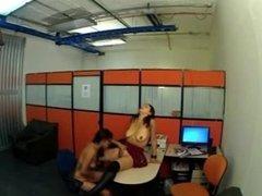 Office Hidden cam caught Secratary n Other Girl