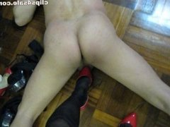 red highheels cockcrush and ballbusting