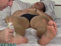 Gay movietures of hairy foot jobs xxx Sleepy Kenny Gets Foot Worshiped