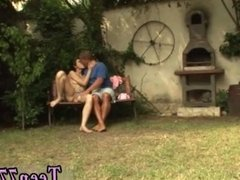 Teen hitachi squirt first time Miho gets penetrated in the backyard