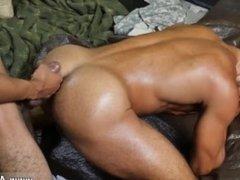 My gay army buddy sucks my cock first time Fight Club