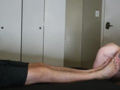4K Ultra HD Professional Pornstar Sniffs Daddies Feet & Cums HARD Teen Boy