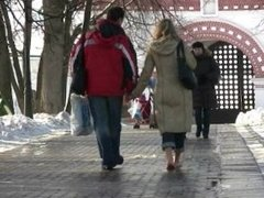 the IRA barefeet in public on a snowy day
