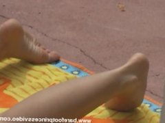 Goddess Gets Sweaty Asshole and feet Cleaned