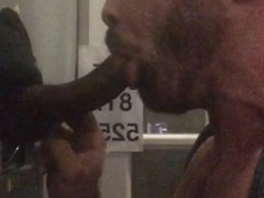 Curved Up Black Cock Gets Sucked-Off at Philadelphia Glory Hole