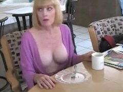 son fucks mature mom in kitchen