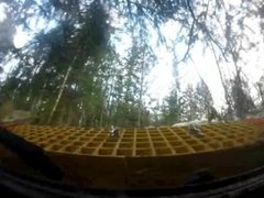 Land rover penetrates earth