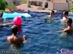 Gay twink 18 enticed apt Pool Party Bareback Boys