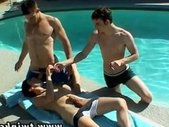 Naked gay boys having anal sex Pool Four-Way!