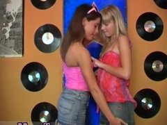 Two beautiful blondes compilation Sexy youthfull lesbians