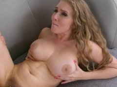 Big titty babe Lane Paul gets caught masturbating in shower and gets fucked