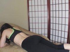Aurelia Farting in Black Yoga Pants