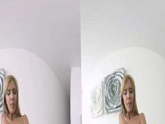 VR BANGERS- Angel Piaff Horny Step Sister dildo masturbation