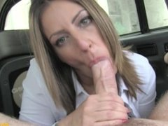 Fake Taxi British mom stretching her pussy and ass on a hard big cock