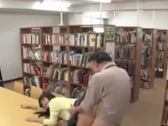 Asian Roughly Creampied In Library