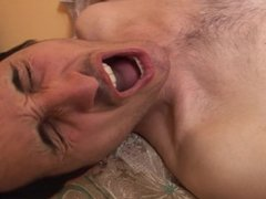 Horny dude wakes up his buddy for a bareback sex session