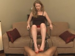 Shoejobs Paraphilia - Mistress T - Cum Dripping Off Red Shoes
