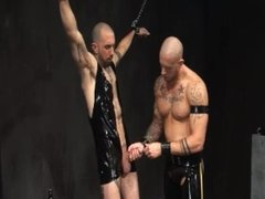 Leather skins rough fuck with piss and ass play