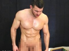 massive shredded muscle god has straight guy suck cock