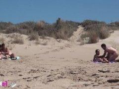 Swingers sex on the beach