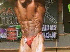 Bodybuilder Posing on Stage Hot Guy