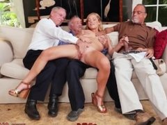 Old couple threesome Frankie And The Gang Tag Team A Door To Door