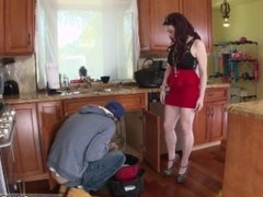 Dad tricks friend's daughter xxx The Plumber gets His Pipe Cleaned