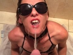Piss swallow..collered pee slave
