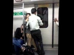 Desperate Indian Lovers in Delhi Metro Kissing - Indian Sex