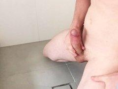 Huge cumshaw in shower