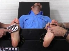 Gay feet xxx movies Officer Christian Wilde Tickled