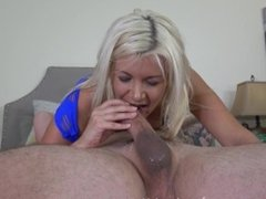Blonde College slut Laela Pryce gets her tight cunt drilled and load of cum