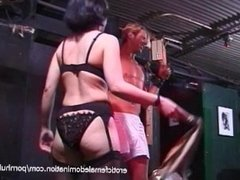 Two horny stallions film naughty scenes with two Oriental bombshells