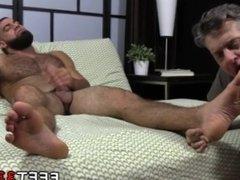 Gay latino men hairy legs body Ricky Larkin Shoots His Load As I Worship