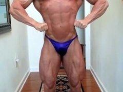 Bald Bodybuilder Flexing