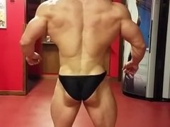 Bodybuilder Posing Practice 7
