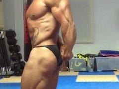Bodybuilder Posing Practice 8
