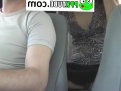 Masturbation on the hidden camera taxi