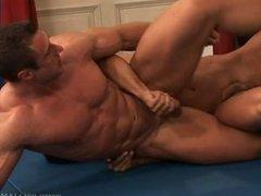 Hot hunks wrestling