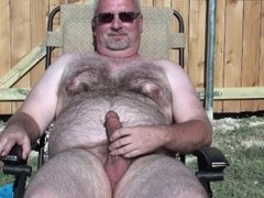 Jacking Off in the Yard