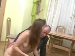 old man fucks girlfriend in front of son