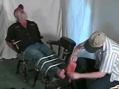 Trucker feet tickled