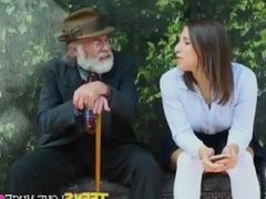 Abella Danger Gets Fucked At The Bus Stopped.