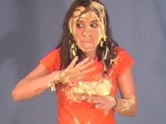 Girl Gets Pied And Slimed