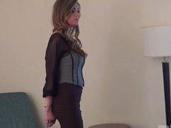 Handcuffed in hot dress