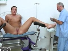 Brunette girl fetish with cumshot